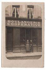 CARTE PHOTO ANCIENNE Commerce Boulangerie Coopérative Pain Boulanger 1900