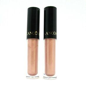 Lot/2 Lancome Le Metallique Lip Gloss ~ 09 Mirrored Nude ~ 1.5 ml x 2