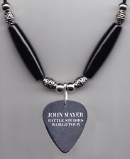John Mayer Signature Kaws Black Guitar Pick Necklace - 2010 Battle Studies Tour