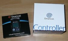 Sega Dreamcast CONTROLLER & Black VMU Visual Memory Unit New Original in Box