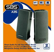 Creative SBS A35 Stereo Speaker Powered Quality Sound! PC- MAC- MP3- PHONE [F05]