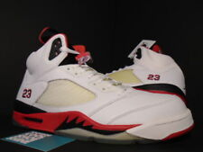 2006 Nike Air Jordan V 5 Retro WHITE FIRE RED BLACK WOLF GREY 136027-162 NEW 12