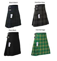 KIDS BOYS, GIRLS 13-Oz Casual / Formal Wear Scottish Tartan Kilt 5 Types Tartans