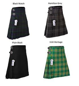 KIDS BOYS, GIRLS 13-Oz Casual / Formal Wear Scottish Tartan Kilt 6 Types Tartans
