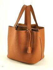Women Genuine Leather Tote Bag Shopper Handbag Purse Shopping Bucket Lady Basket