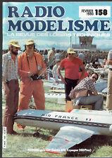 REVUE RADIO MODELISME N°158  1980  VOIR SOMMAIRE   vintage model magazine
