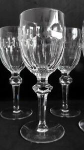 4 x Rare Waterford Crystal Currachmore White Wine/Water Glasses