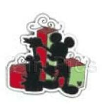 MICKEY MOUSE Silhouette XMAS PRESENT Cast LANYARD Holidays HIDDEN Disney PIN