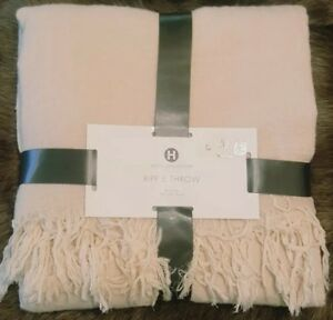 "Hotel Collection Ripple Throw Blanket ~ Ivory ~ 50"" x 70"" ~ MSRP $360"