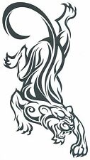 """PANTHER SUPER SIZE EXTRA LARGE 9.50"""" x 5.25 AWESOME Temporary Tattoo"""