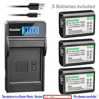 Kastar Battery LCD Charger for Sony NP-FW50 BCTRW & Sony ILCE-5100 Alpha a5100