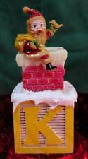 Toy K Block Christmas Decor Handmade w/ Vintage & Supply Items Santa Kringle