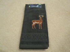 Kitchen bath hand towel deer buck st nicholas square new with tags