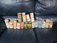 Lot of 17 Vintage Schmidt Empty Beer Cans Pull Top