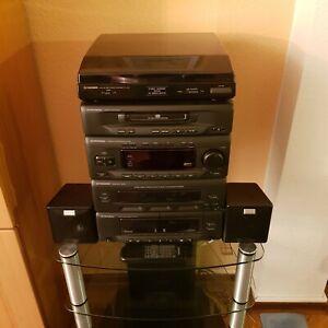 Pioneer Hifi-Anlage Tower CD Player Doppel Kassette Radio Boxen