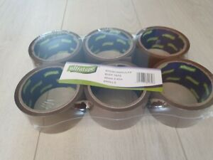 Buff Brown Packaging Packing Tape Strong 48mm x 40m - Various Sizes