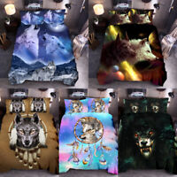 Dream Catcher Wolf Duvet Cover Set Animal Print Bedding Sets Twin Queen King