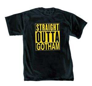 DC Comics Batman Straight Outta Gotham Mens Black T-Shirt