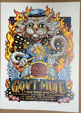 Gov'T Mule - Warren Haynes - Fall Tour 2016 - Aj Masthay - New Haven - Poster