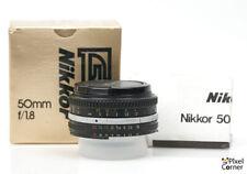 Nikon 50mm f/1.8 Ai-S Nikkor Standard Prime pancake lens Nice Boxed! 4265974