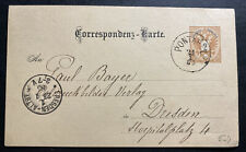 1895 Pontafel Austria Empire Stationery Postcard Cover To Dresden Germany