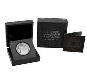 2016 STAR WARS DARTH VADER 1 OZ SILVER COIN - FIRST RELEASES - NIUE, NZ MINT