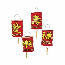 """Red Chinese Hanging Lanterns with Tassel (6 Pieces) 6"""" Diam. Hangs 11"""""""