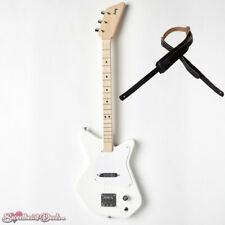 Loog Pro Electric White 3-Stringed Solidbody Guitar - with Strap