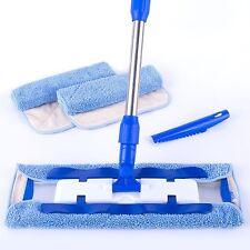 MR. SIGA Professional Microfiber Mop (3 Cloth Refills + 1 Dirt Removal Scrubber)