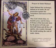 Saint Michael Prayer Holy Card S Michael BRACELET Antique medal 2.9g