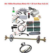 Go Kart Cart Rear Axle Kit & Brushless 48v 1800w Electric Motor Controller Set