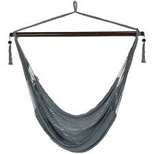 Sunnydaze Hanging Caribbean XL Hammock Chair - Gray