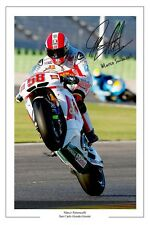 Marco Simoncelli signé photo autographe San Carlo Honda Gresini