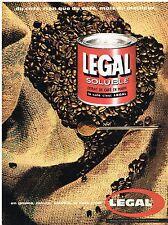PUBLICITE ADVERTISING  1961   LEGAL   café soluble