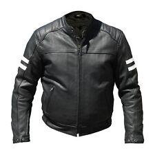 BLOUSON Homme  Moto Cuir  HELSTONS VENTURA Noir Blanc  - 20150034-  XL - Neuf