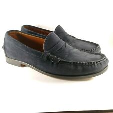 01af4c6cd39 Rancourt Blue Suede Beefroll Penny Loafer Navy Club Monaco 10.5D Retail  350