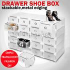Standard size Plastic Shoe Box Storage Stackable Foldable Storage Drawer