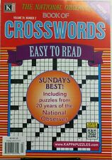 Kappa The National Observer Book of Crosswords Vol 24 No 2 FREE SHIPPING puzzle