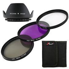 Kit de filtros UV FLD CPL + Lens Hood 58mm para Canon 60D 600D 650D 550D LF136