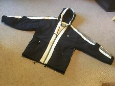 Pre Owned Ripzone Snowboarding Jacket.  Mens M.  Black, Gray, Tan.  Hooded.