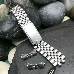 Rolex Jubilee 19mm Stainless Steel Oval Link 17mm Clasp USA Vintage Watch Band