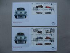 NETHERLANDS, 2x cover FDC 2014, car museum, ao Porche Toyota Ferrari Spijker
