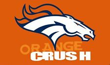 Denver Broncos Crush FLAG BANNER 3' X 5' HUGE FLAG Polyester Metal Grommets