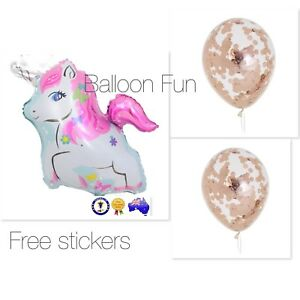 LARGE MY LITTE PONY UNICORN FOIL BALLOON Birthday Party Supplies Toy Rose Gold