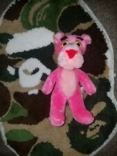 "Vintage 1980 Pink Panther Plush Stuffed Animal 11"" Mighty Star Toy 80s Tv Cat"