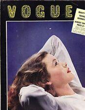 VOGUE British August 1941 Anton Bruehl cvr Gene Tierney Duchess Kent Lee Miller