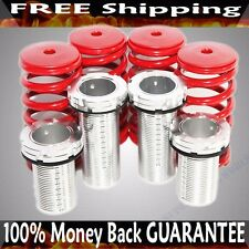 RED/Silver 88-00 Honda Civic 94-01 Acura Integra Coilover Lowering Springs Kits