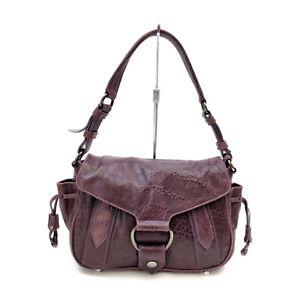 Miu Miu Hand Bag  Purple Leather 1528738