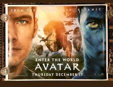AVATAR (2009) original UK quad movie poster - D/S rolled -advance teaser version