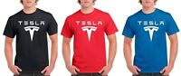 Tesla Logo T Shirt Mens and Youth Sizes